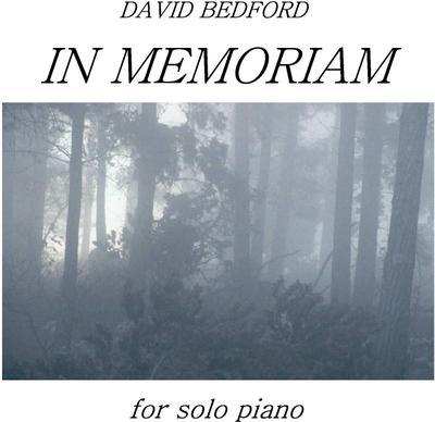 Picture of Sheet music  by David Bedford. 'In Memoriam' for piano.