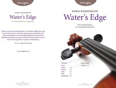 Picture of Sheet music  for violin, violin, viola, cello and double bass by Robin Wedderburn. A short contemplative piece for strings of Grade 3-4 standard