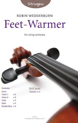Picture of Sheet music  for violin, violin, viola, cello and double bass by Robin Wedderburn. A short, vigorous, user-friendly piece for string orchestra. Aimed to appeal to younger players.