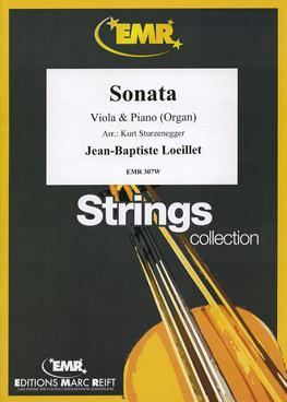 Picture of Sheet music for viola and piano by Jean-Baptiste Loeillet