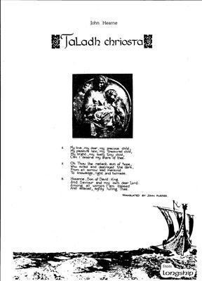 Picture of Sheet music  by John Hearne. Sheet music for SATB in a simple carol setting - 70 copy licence.