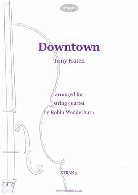 Picture of Sheet music  for violin, violin, viola and cello. An adventurous string-quartet arrangement of Tony Hatch's 1964 classic, made famous by the singing of Petula Clark.