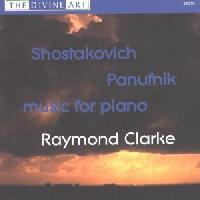 Picture of CD of piano music by Shostakovich and Panufnik performed by Raymond Clarke