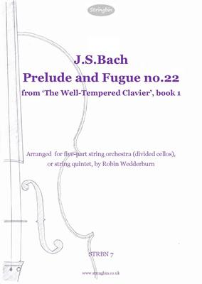 Picture of Sheet music  for violin, violin, viola, cello, cello and double bass. For String Orchestra with divided cellos. An arrangement of this magnificent item from J.S,Bach's '48'.