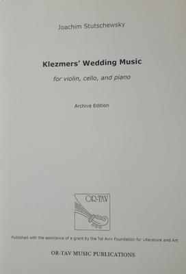 Picture of Sheet music  for violin, cello and piano. Sheet music for piano trio by Joachim Stutschewsky
