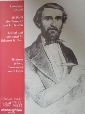 Picture of Sheet music for french horn, trumpet or tenor trombone and organ by Giuseppe Verdi
