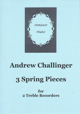 Picture of Sheet music  by Challinger. Three short pieces for two treble recorders, written as practice material for players of a moderate standard. Should be entertaining to play and to listen to, though some passages will need work on technique or ensemble. Comes as a set of two playing scores.