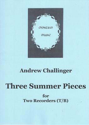 Picture of Sheet music  by Challinger. Three duets for the combination of tenor and bass recorders. They are more difficult than the Spring Pieces for two trebles but should not tax experienced players too much.
