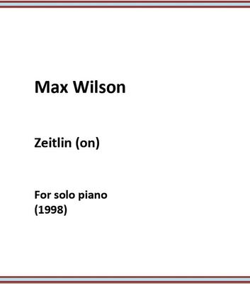 Picture of Sheet music  by Max Wilson. Music for solo piano (1998)