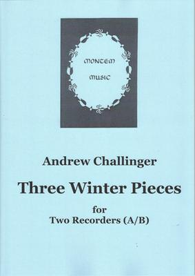 Picture of Sheet music  by Andrew Challinger. The final instalment of a set of seasonal recorder duets which began in spring 2020. These three are for treble and bass. There are difficulties, but nothing too hard for an average player.
