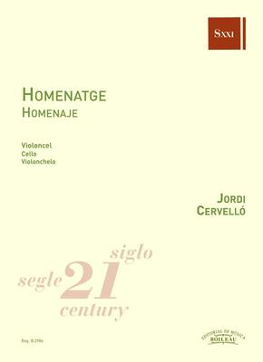 Picture of Sheet music for cello solo by Jordi Cervelló