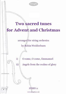 Picture of Sheet music  for violin, violin, viola, cello and double bass. Two very well-known tunes associated with the Christmas season, extended and elaborated for string orchestra.